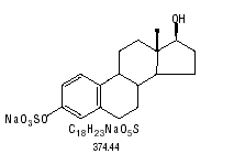 structural formula for sodium 17 beta estradiol sulfate