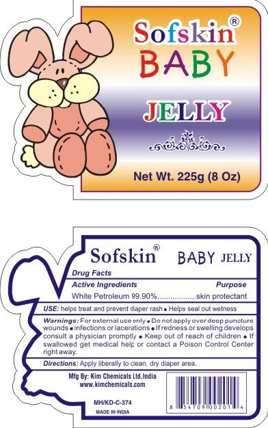 Sofskin Baby (White Petrolatum) Jelly [Nova Petroleum & Chemicals Corporation]