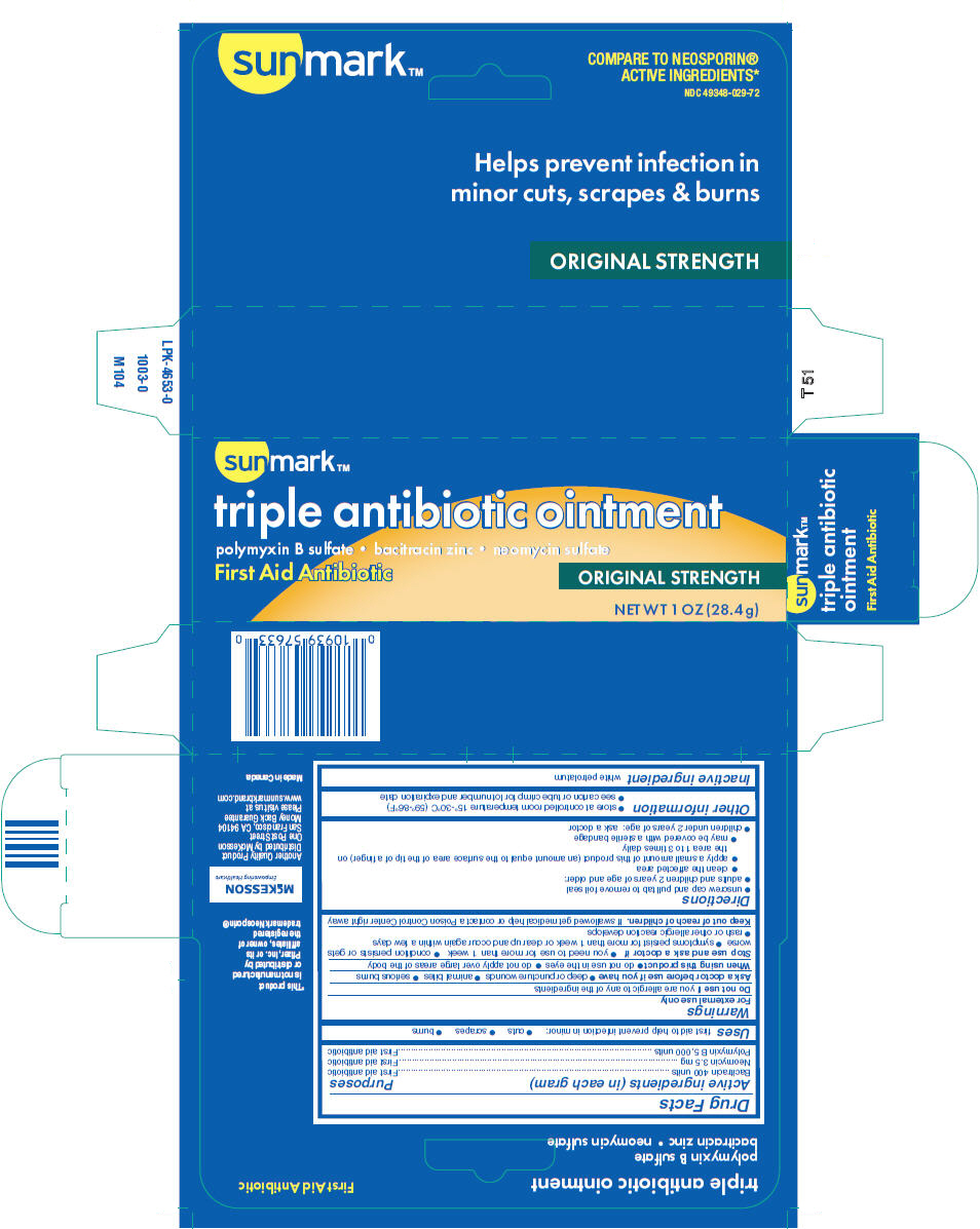 Sunmark Triple Antibiotic (Polymyxin B Sulfate, Bacitracin Zinc, And Neomycin Sulfate) Ointment [Mckesson]