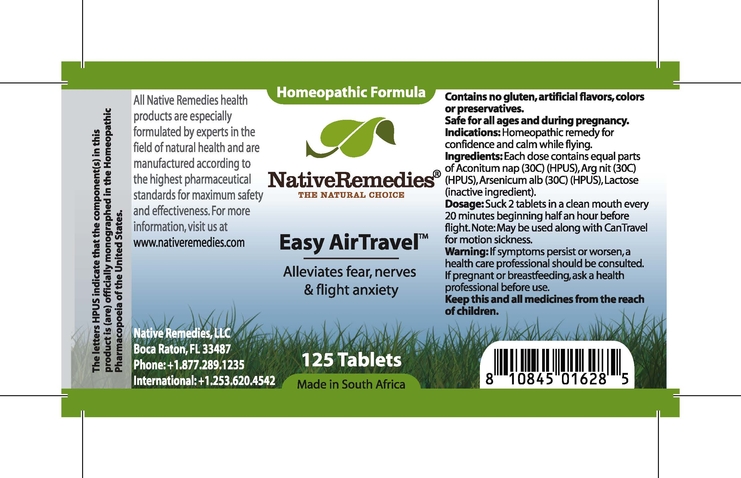 Easy Air Travel (Aconitum, Arg Nit, Arsenicum Alb) Tablet [Feelgood Health]