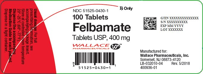 Felbamate 400 mg Tablets Bottle Label