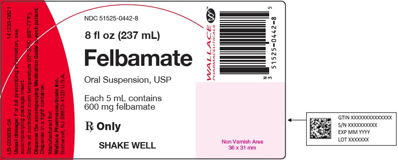 Felbamate 8 fl oz (237 mL) Oral Suspension Bottle Label