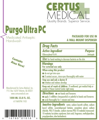 Purgo Ultra Pc (Chloroxylenol) Soap [Certus Medical, Inc.]