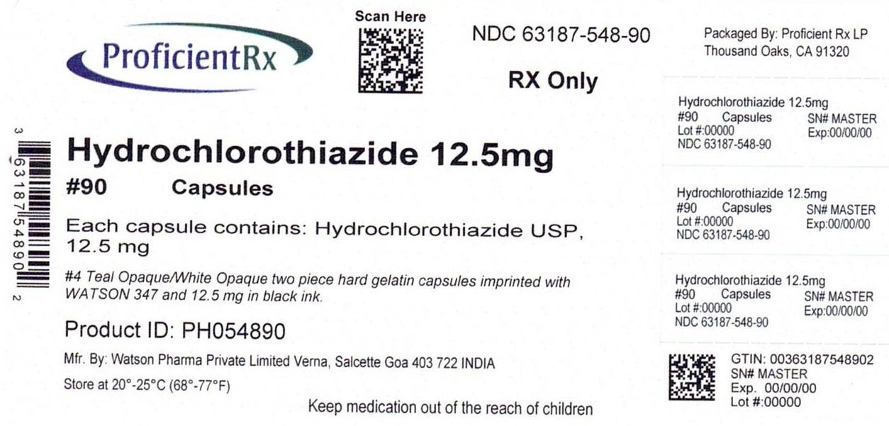 Hydrochlorothiazide Capsule, Gelatin Coated [Proficient Rx Lp]