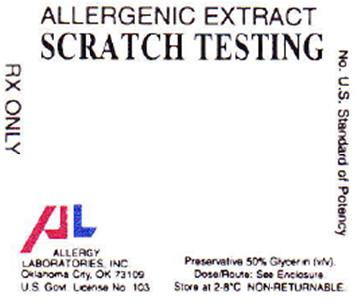 PRINCIPAL DISPLAY PANEL ALLERGENIC EXTRACT SCRATCH TESTING RX ONLY