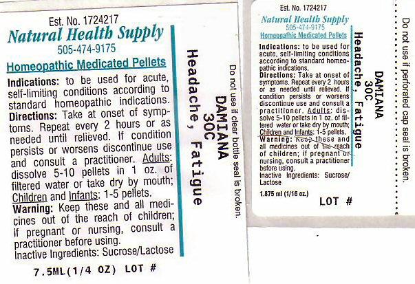 Headache Fatigue (Turnera Diffusa Leafy Twig) Pellet [Natural Health Supply]