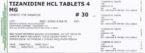 Tizanidine Tablet [Medsource Pharmaceuticals]