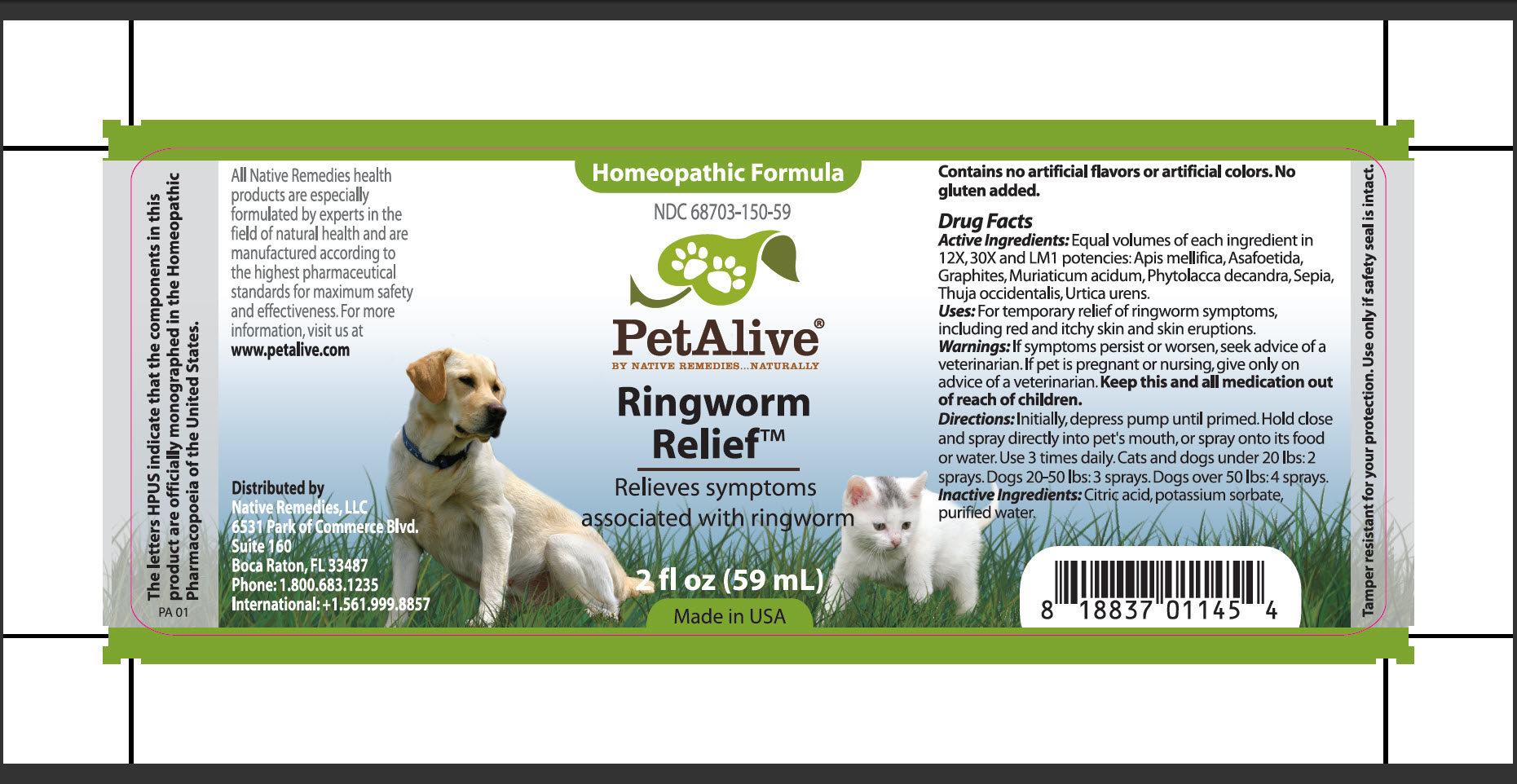 Ringworm Relief (Apis Mellifica, Asafoetida, Graphites, Muriaticum Acidum, Phytolacca Decandra, Sepia, Thuja Occidentalis, Urtica Urens) Spray [Native Remedies, Llc]