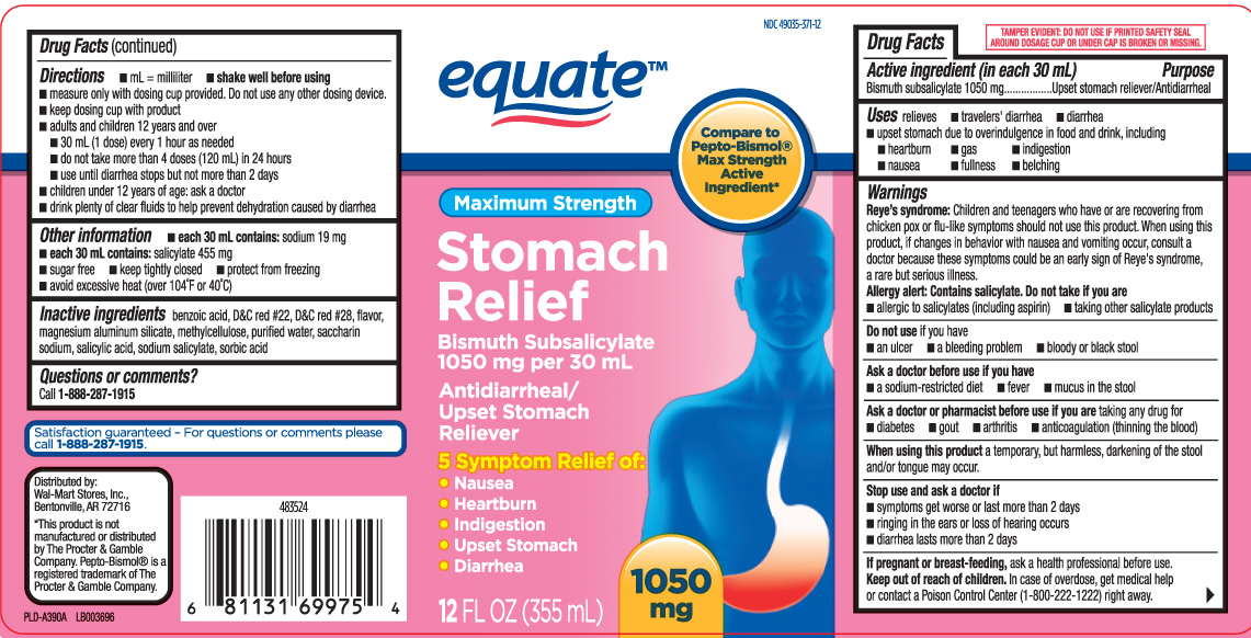 Stomach Relief Maximum Strength (Bismuth Subsalicylate) Liquid [Equate (Walmart Stores, Inc.)]