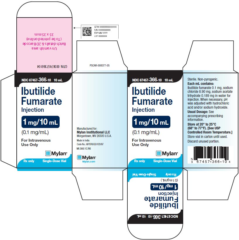 Ibutilide Fumarate Injection 1 mg/10 mL Carton Label