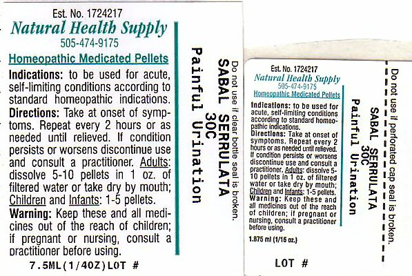 Painful Urination (Saw Palmetto) Pellet [Natural Health Supply]