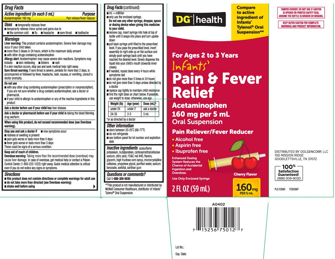 Pain And Fever Relief Infants (Acetaminophen) Suspension [Dolgencorp, Inc. (Dollar General & Rexall)]
