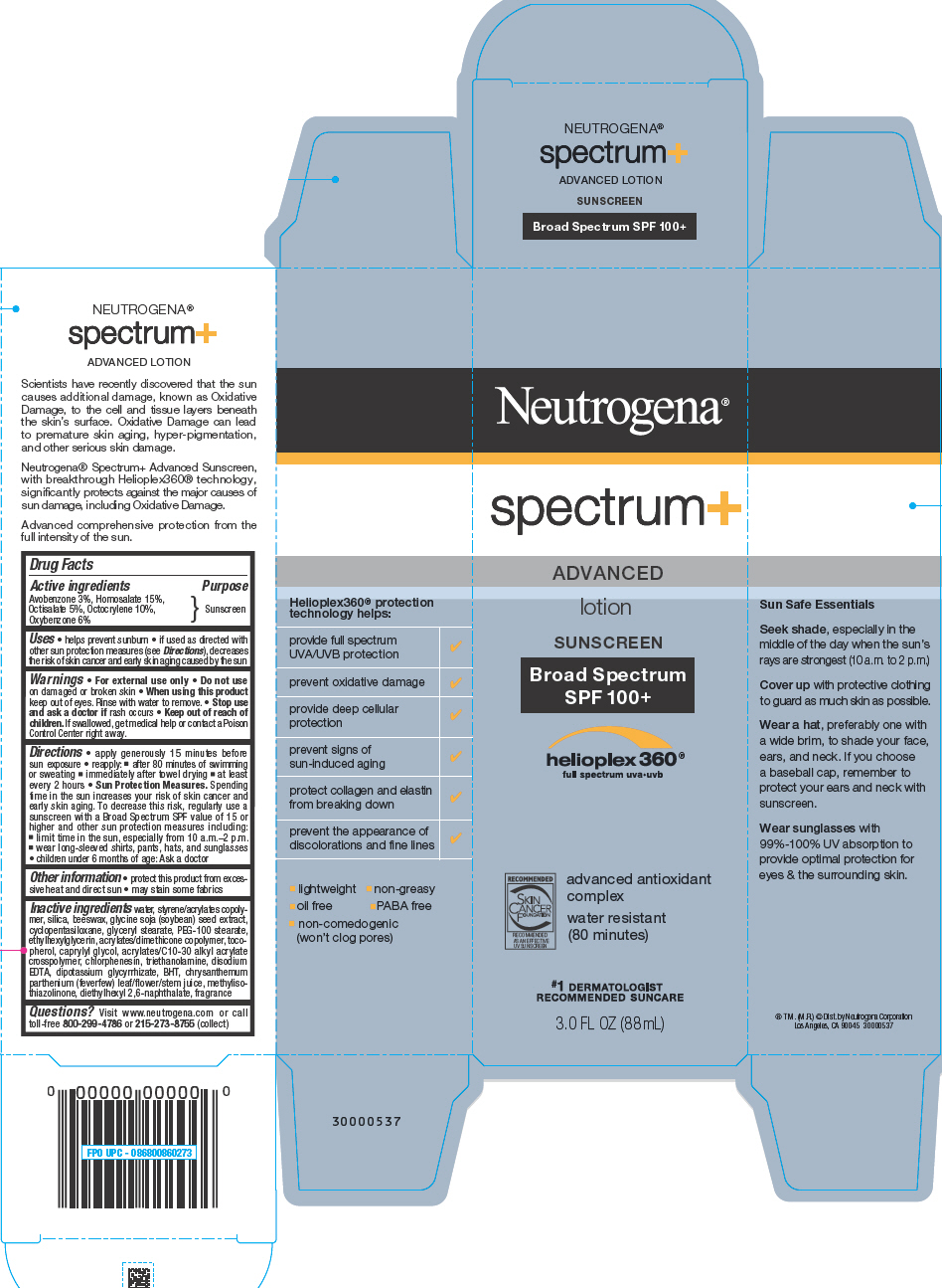 Neutrogena Spectrum Plus Advanced Sunscreen Broad Spectrum Spf100 Plus (Avobenzone, Homosalate, Octisalate, Octocrylene, And Oxybenzone) Lotion [Neutrogena Corporation]