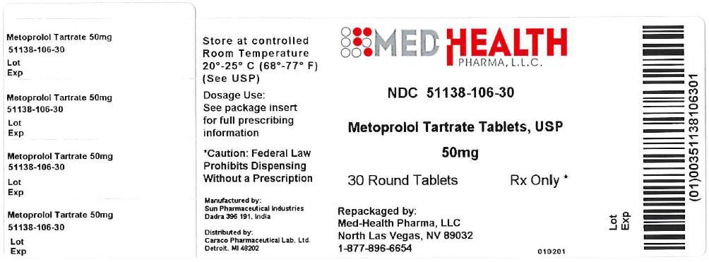 Metoprolol Tartrate Tablet [Med-health Pharma, Llc]