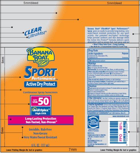PRINCIPAL DISPLAY PANEL Banana Boat Sport SPF 50