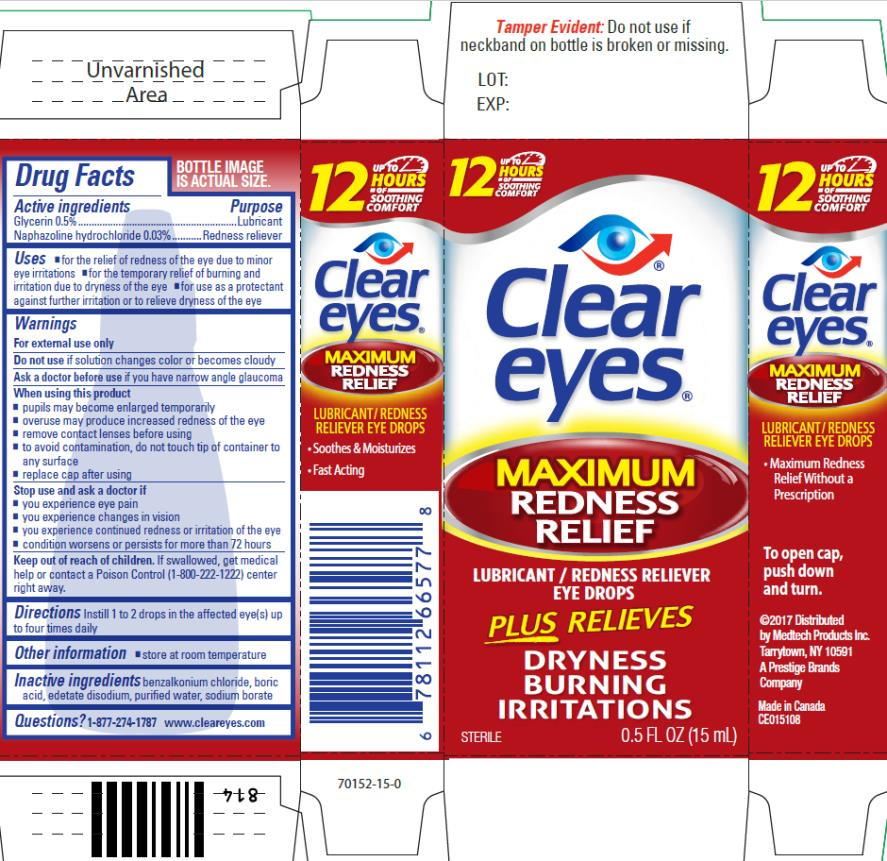 Clear Eyes Maximum Redness Relief (Naphazoline Hydrochloride And Glycerin) Liquid [Prestige Brands Holdings, Inc.]