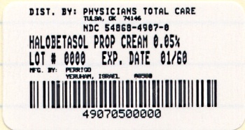 image of 50 gram cream package label