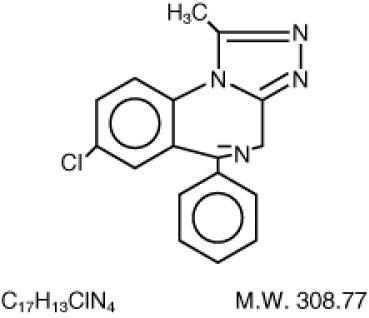 Alprazolam Structural Formula