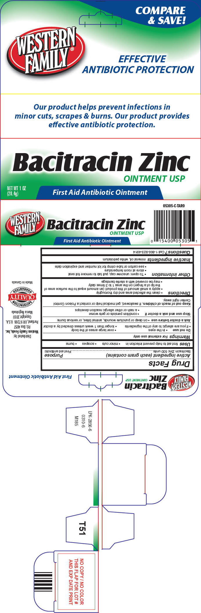 Western Family Bacitracin Zinc (Bacitracin Zinc) Ointment [Western Family Foods Inc]