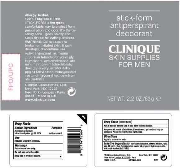 Skin Supplies For Men Antiperspirant (Aluminum Zirconium Tetrachlorohydrex Gly) Cream [Clinique Laboratories Inc.]