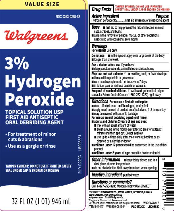 Hydrogen Peroxide 3 Percent (Hydrogen Peroxide) Liquid [Walgreens]