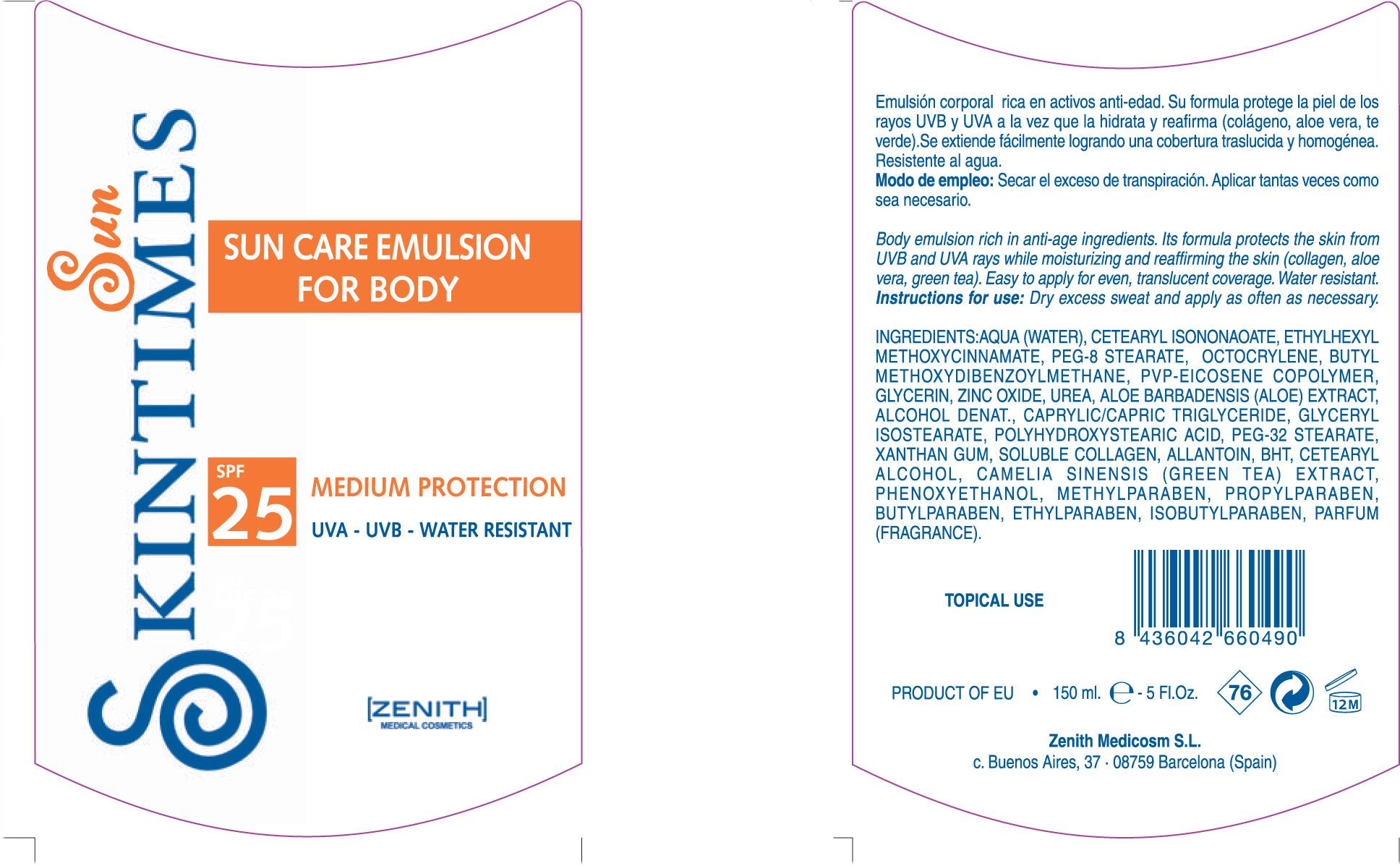 Sun Care For Body (Octinoxate Avobenzone Zinc Oxide Octocrylene) Emulsion [Zenith Medicosm Sl]