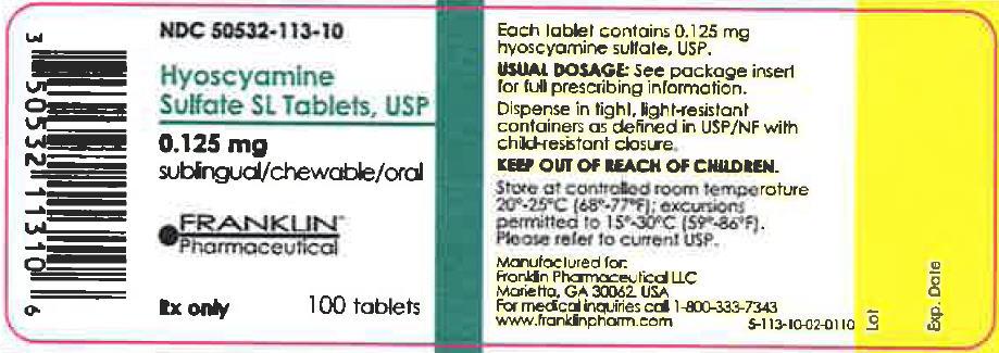 Hyoscyamine Sulfate Sl (Hyoscyamine Sulfate) Tablet, Soluble [Franklin Pharmaceutical Llc]