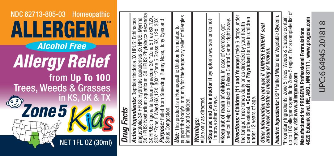 Allergena Trees, Weeds And Grasses – Zone 5 Kids Liquid [Meditrend, Inc. Dba Progena Professional Formulations]