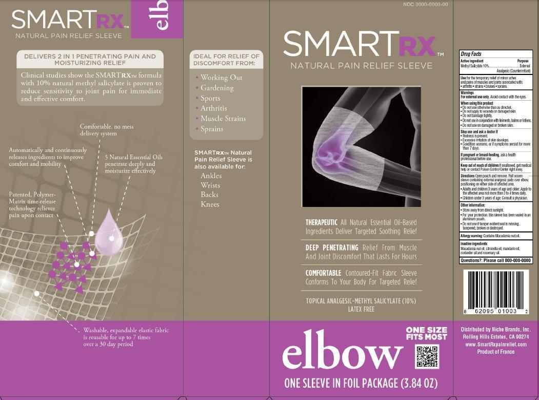 Smartrx Natural Pain Relief Sleeve Elbow (Methyl Salicylate) Liquid [Niche Brands, Inc.]
