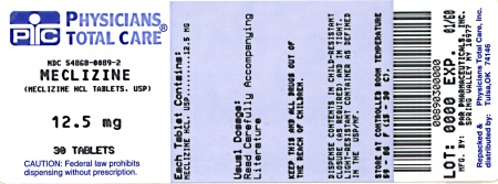 image of 12.5 mg package label