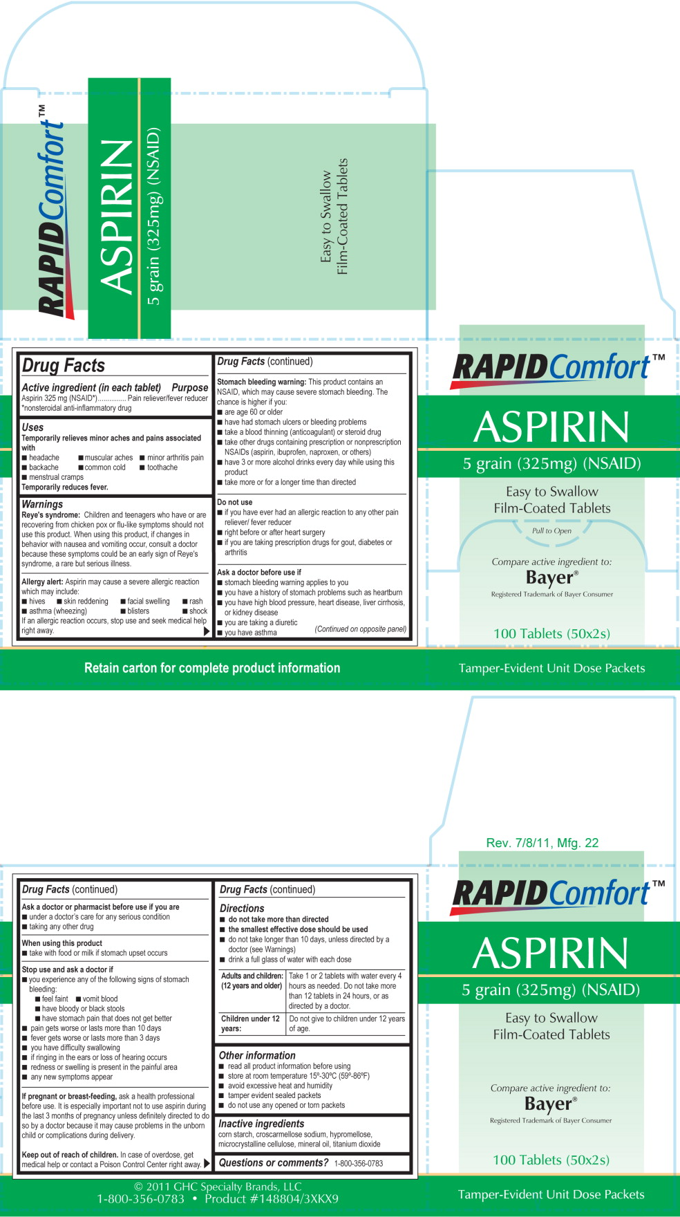 116R LSS -Aspirin 325 mg Label
