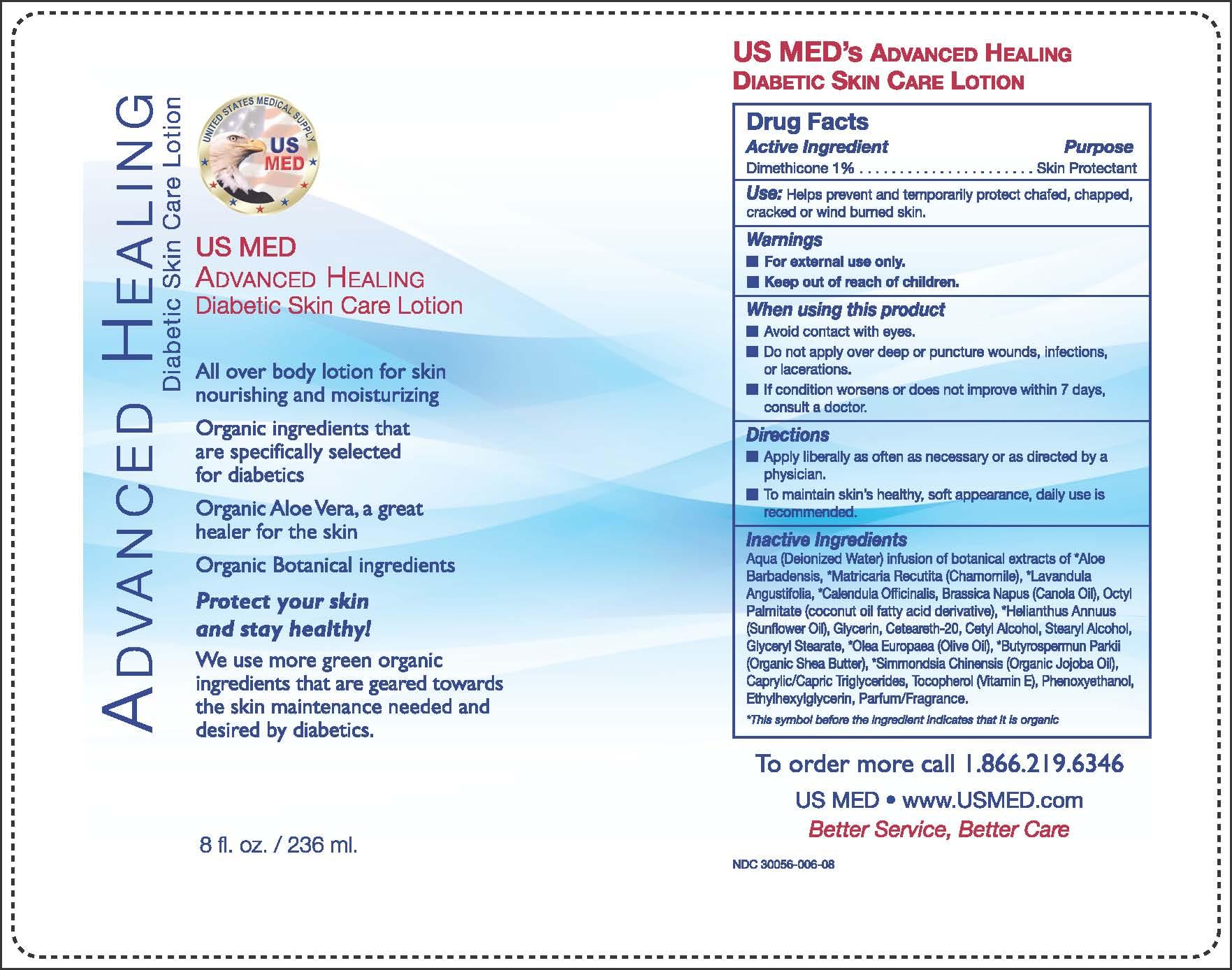 Advanced Healing Diabetic Skin Care (Dimethicone) Lotion [Eco-logics, Inc.]