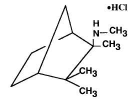 Mecamylamine HCL Structural Formula