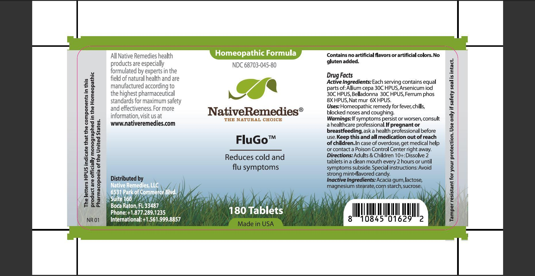 Flugo (Allium Cepa, Arsenicum Iod, Belladonna, Ferrum Phos, Nat Mur) Tablet [Native Remedies, Llc]