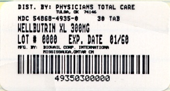 image of 300 mg package label