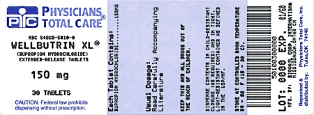image of 150 mg package label