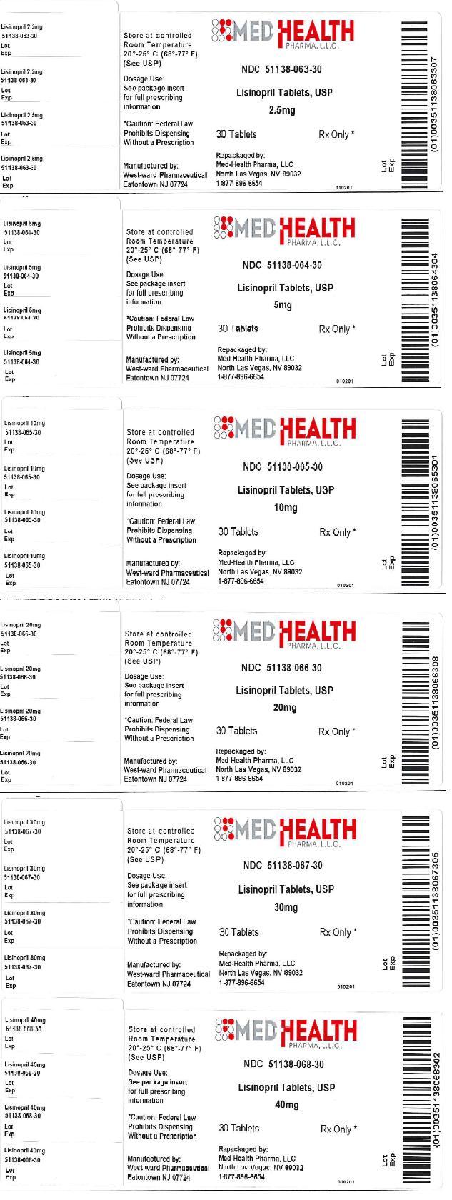 Lisinopril Tablet [Med-health Pharma, Llc]