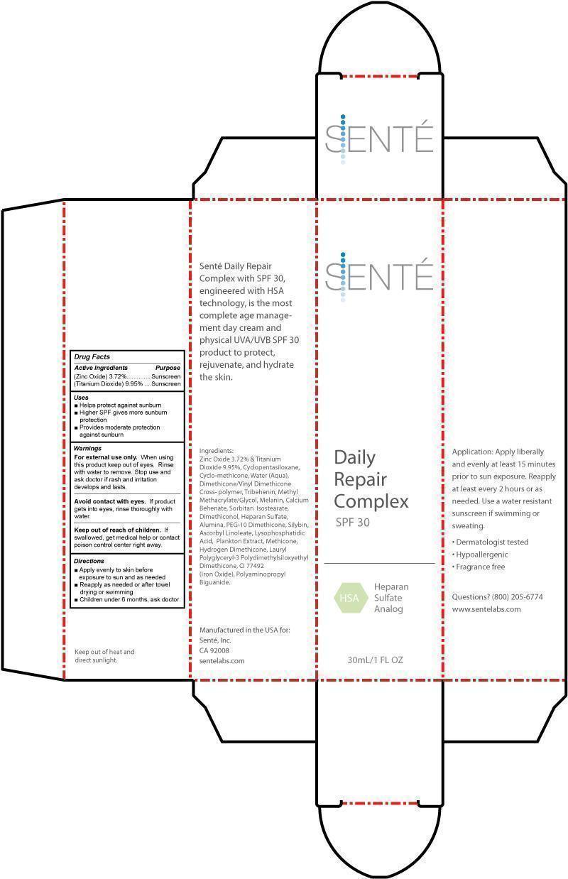 Sente Daily Repair Complex Spf 30 (Titanium Dioxide, Zinc Oxide) Cream [Owen Biosciences, Inc.]