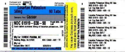 Losartan Potassium (Losartan Potassium Tablet) Tablet [Direct Rx]