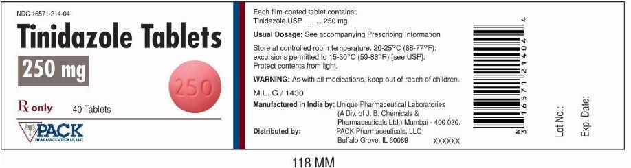 Tindazole (Tinidazole) Tablet, Film Coated Tindazole (Tinidazole) Tablet, Film Coated [Pack Pharmaceuticals, Llc]