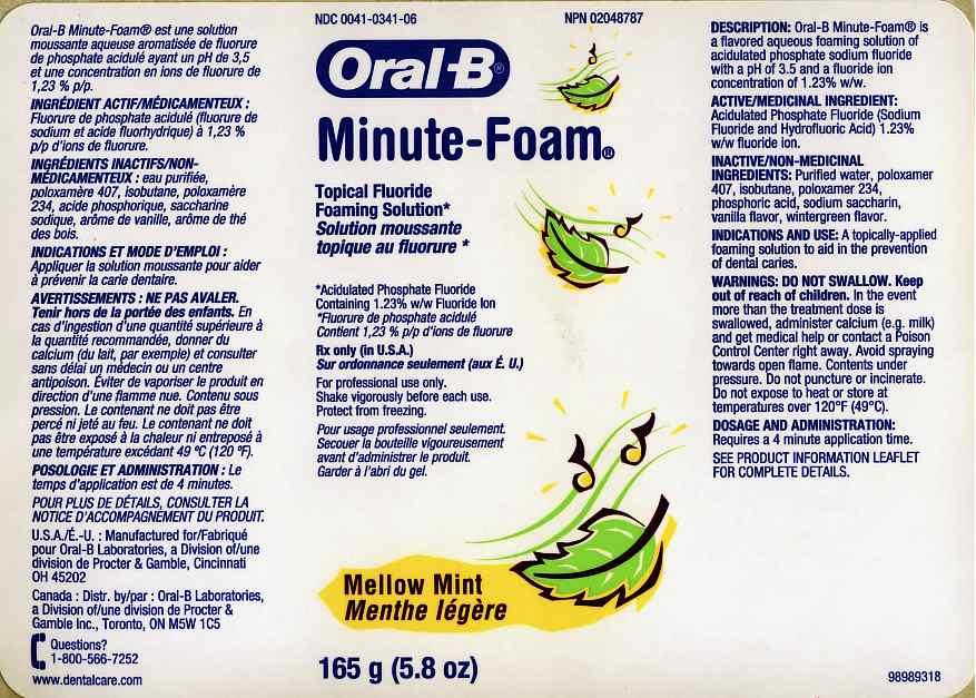 Oral-b Minute-foam Mellow Mint (Acidulated Phosphate Fluoride) Aerosol [Oral-b Laboratories]