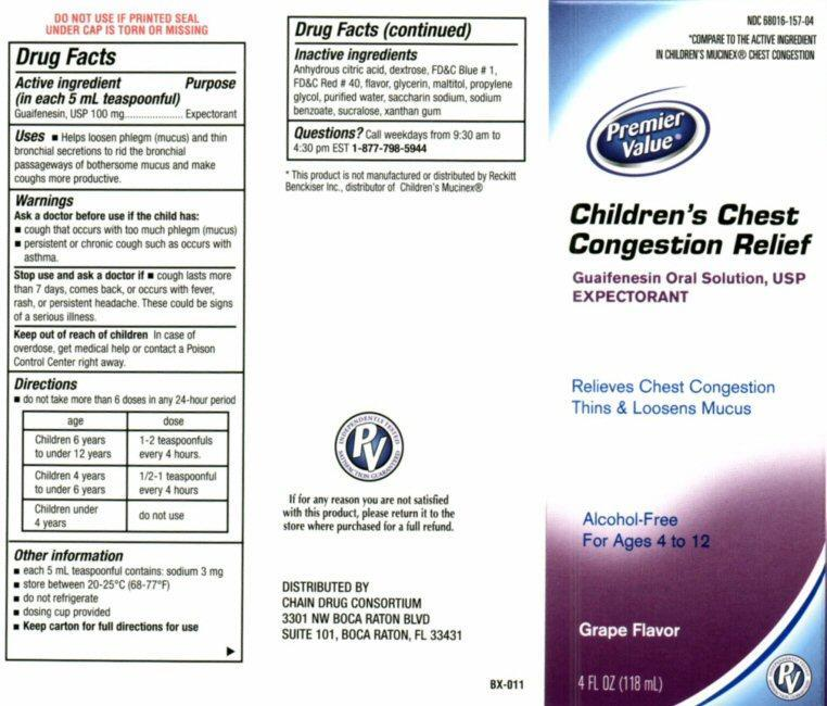 Childrens Chest Congestion Relief (Guaifenesin) Liquid [Chain Drug Consortium, Llc]