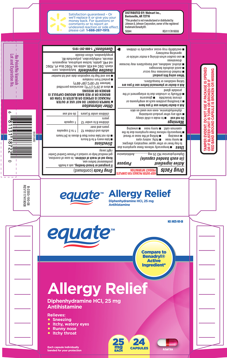 Allergy (Diphenhydramine Hcl) Capsule [Wal-mart Stores Inc]