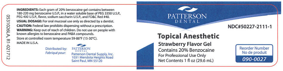 Topical Anesthetic Strawberry (Benzocaine) Gel [Patterson Dental Supply Inc]