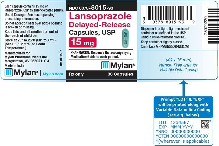 Lansoprazole Capsule, Delayed Release Pellets [Mylan Pharmaceuticals Inc.]