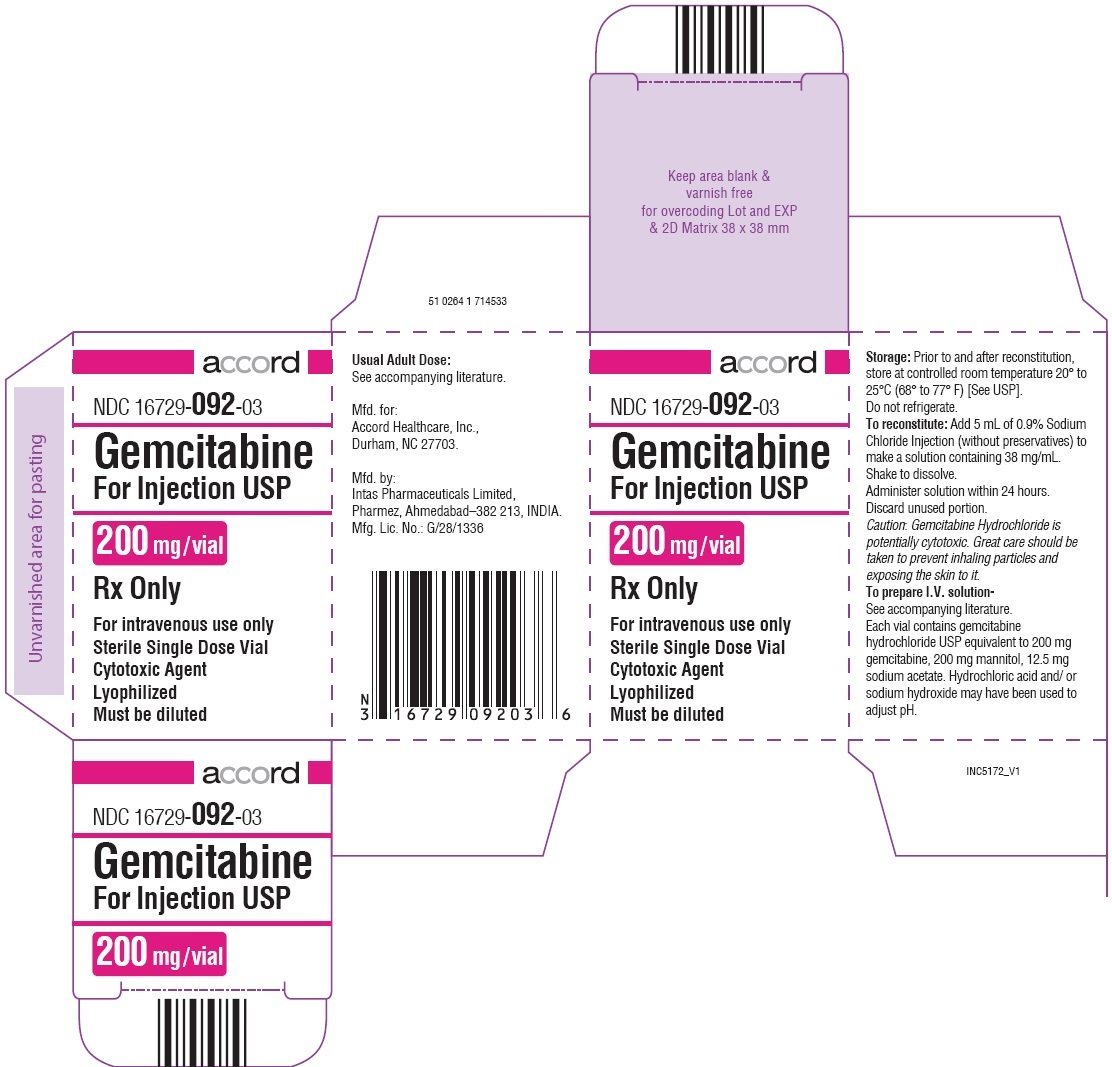 Gemcitabine For Injection 200 mg  Carton for SEZ