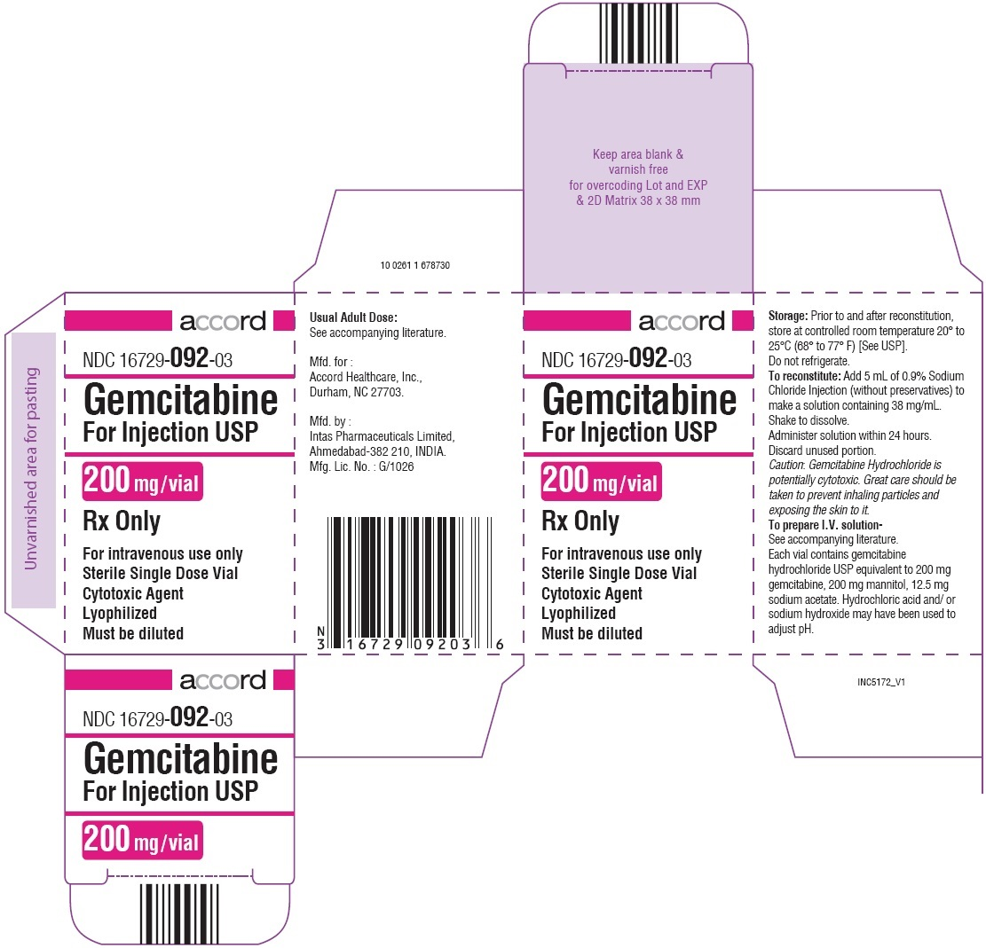Gemcitabine For Injection 200mg Carton