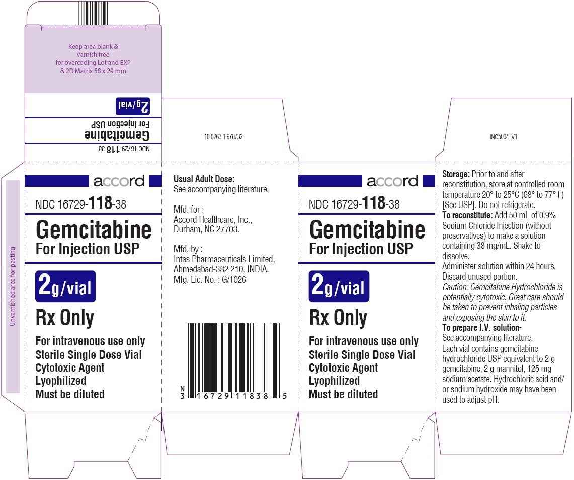 Gemcitabine For Injection 2g Carton