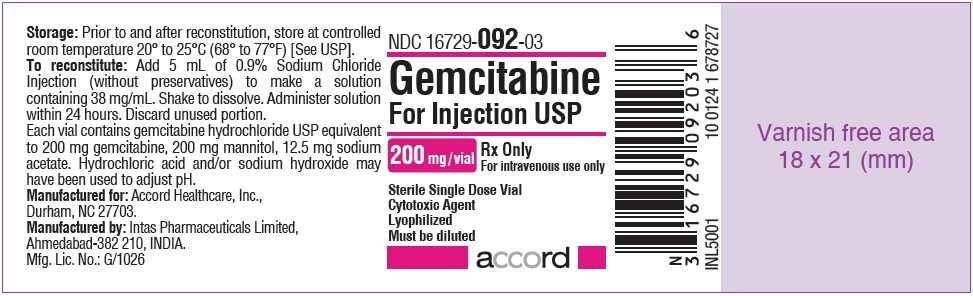 Gemcitabine For Injection 200mg Label