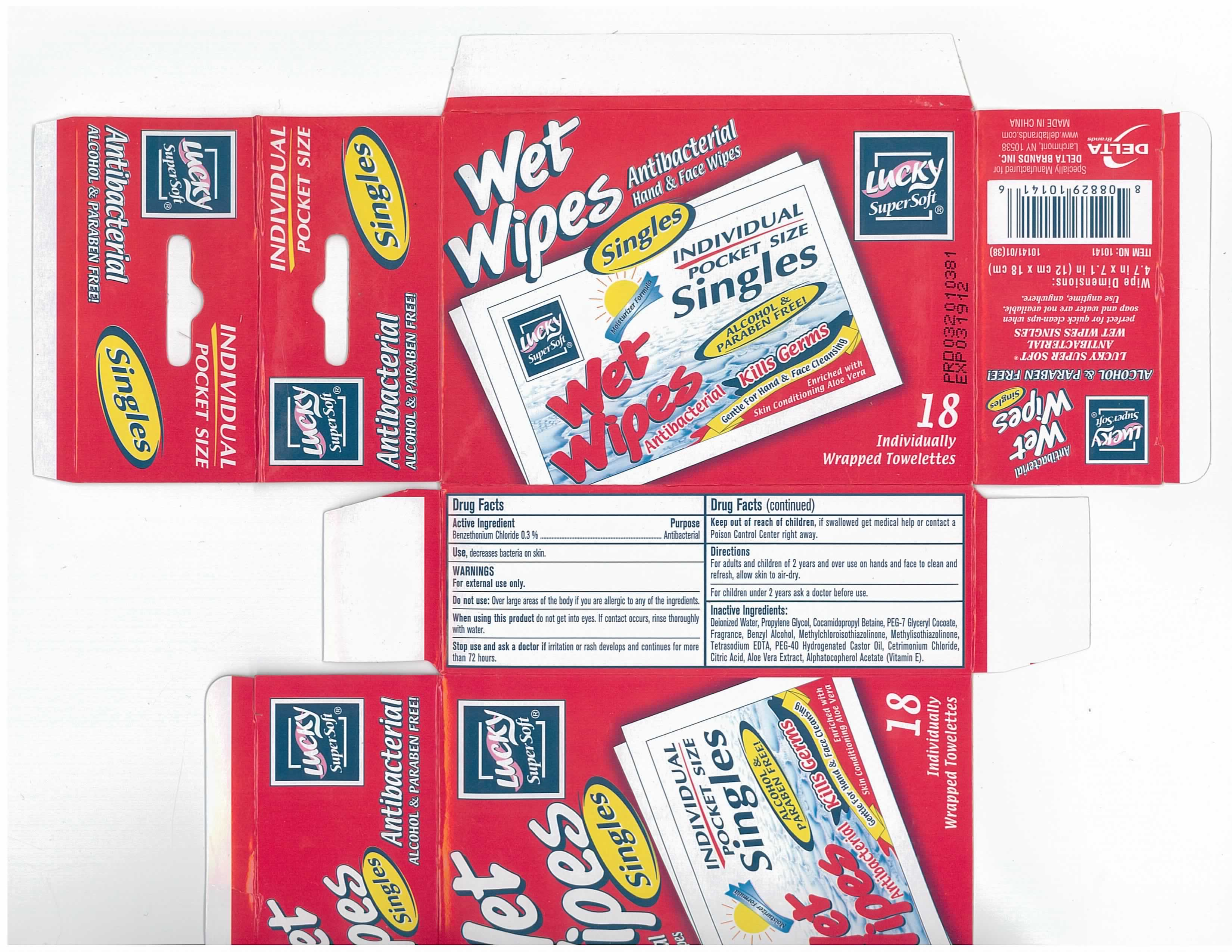 Wet Wipes (Benzethonium Chloride) Swab [Delta Brands, Inc]